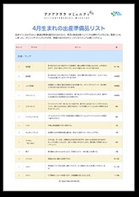 4月生まれの出産準備品リスト